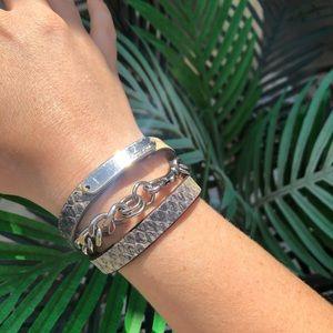 COACH leather double wrap bracelet. Rare!